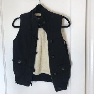 OLD NAVY faux fur lined vest